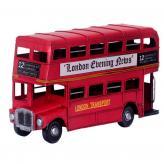 双层巴士铁皮汽车模型 金...
