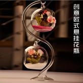 欧式双悬挂玻璃水晶花瓶 ...
