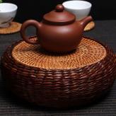 草编陶胎壶茶盘壶垫 竹艺...