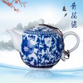 青花缠枝莲茶具 青花瓷套...