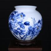 田曼《花开富贵》瓷瓶艺术...