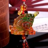 琉璃金蟾挂件 琉璃工艺品