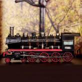 蒸汽火车头模型 金属工艺...