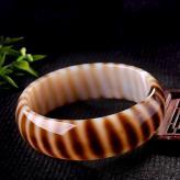 豹纹玛瑙手镯 玉器工艺品