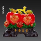 平安富贵两个苹果 树脂工...