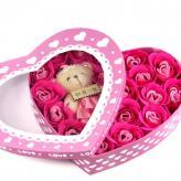 新款21朵香皂玫瑰花+小...