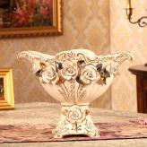 奢华象牙瓷欧式果盘 陶瓷...