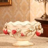 欧式陶瓷高档水果碗盘 陶...