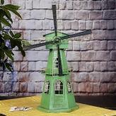 欧式复古大风车摆件 金属...
