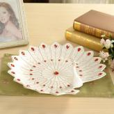 创意孔雀欧式陶瓷水果盘 ...