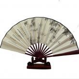 中国风绢布折扇 折扇工艺...