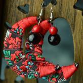 裹布耳环 饰品工艺品