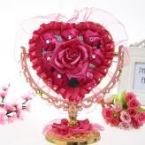 结婚单面镶钻花边玫瑰梳妆...