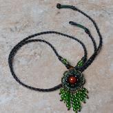 中国风红玛瑙手工项链 饰...