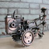 复古铁艺拖拉机模型 金属...