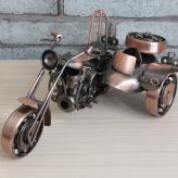 边三轮摩托车模型 金属工...