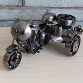 铁皮边三轮侉子摩托车模型...