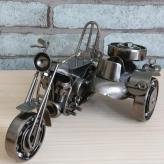 仿古铁艺边三轮摩托车模型...