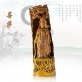 《菩萨》黄杨木  根雕艺...
