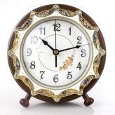 欧式实木座钟创意贝壳时钟...