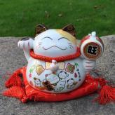 陶瓷招财猫储蓄罐 家居装...