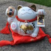 陶瓷招财猫储蓄罐炫彩大号...