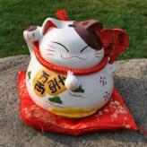 新款招财猫陶瓷储蓄罐 家...