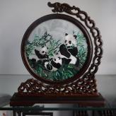刺绣苏绣国宝熊猫 刺绣工...
