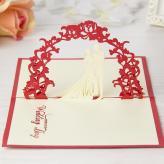 创意3D立体贺卡剪纸 纸...