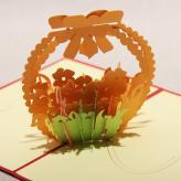 3D剪纸花篮立体贺卡 纸...
