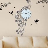 大孔雀创意客厅挂钟 金属...