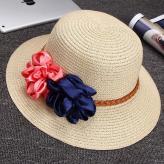 草编沙滩遮阳帽 帽子工艺...
