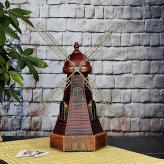 欧式仿古风车创意摆件 金...