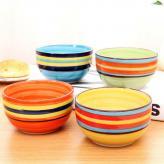 家用陶瓷彩虹碗 生活用品...