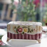 时尚浮雕玫瑰抽取式纸巾盒...