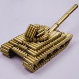 子弹壳工艺品 56大型坦...