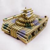 转盘大坦克弹壳模型玩具 ...