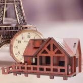 3D木质西式小屋拼图拼板...