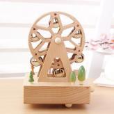 木质音乐摩天轮八音盒 木...