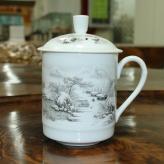 中号雪景茶杯 茶具艺术汇