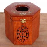 八面纸盒 木制工艺品