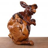 根雕兔 红杉木 根雕艺术...