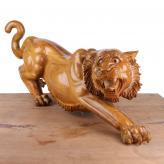 狮子 香樟木 木雕艺术品