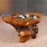 根雕茶桌 樟木 根雕艺术...