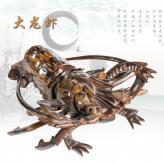 大龙虾 鸡翅木 根雕艺术...
