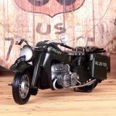 复古铁皮创意摩托模型 金...