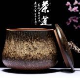 陶瓷粗陶普洱茶醒茶罐 茶...