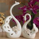创意陶瓷天鹅摆件 家居装...