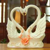 创意陶瓷天鹅 家居装饰工...
