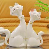 情侣对猫 家居装饰工艺品